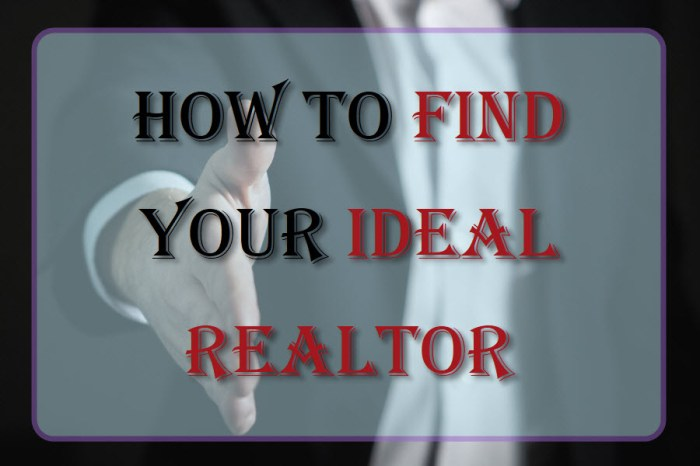How To Find Your Ideal Realtor