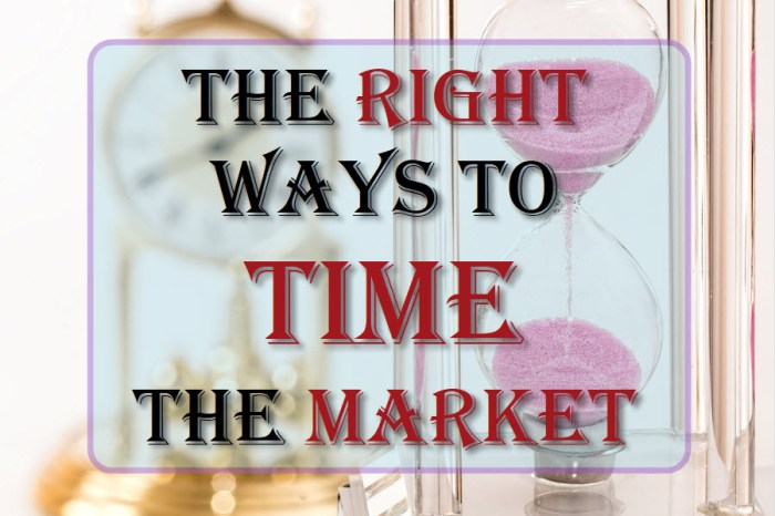The Right Ways To Time The Market