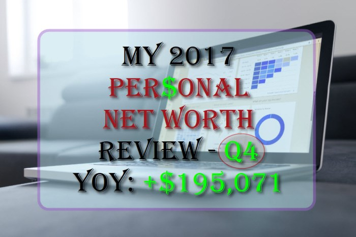 My Personal Net Worth Review - 2017 Year-end