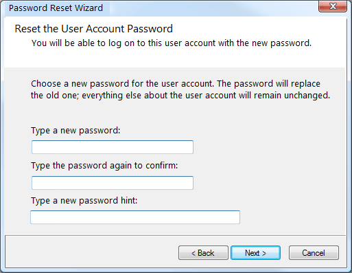start to reset your password