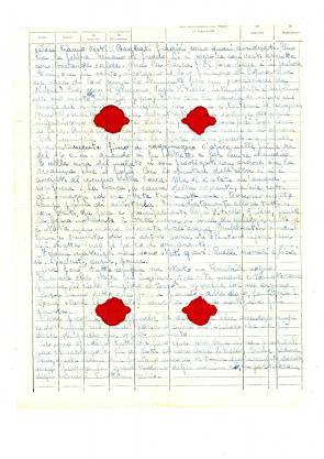 Documento olografo di Antonio Lauro.