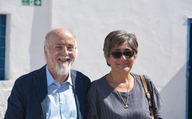 La musa ispiratrice insieme a Piero Marras