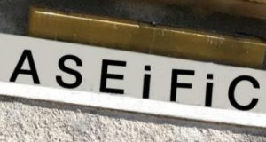 La scritta del caseificio rinnovata.
