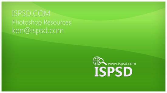 Company green business card PSD - prev