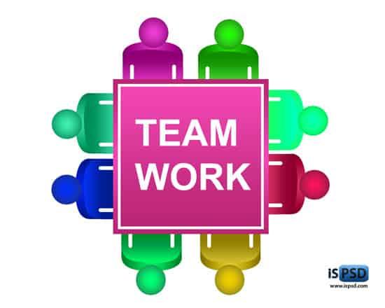 Colorful Teamwork Table