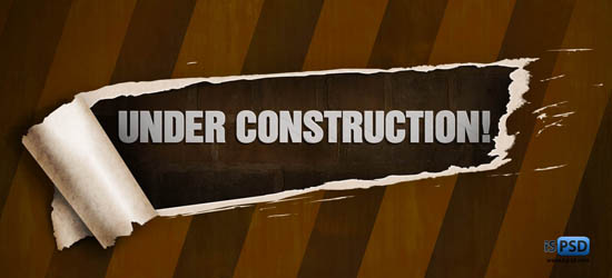 Under Construction  Sign PSD Part 2