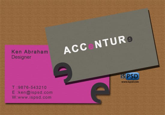 Accenture  Business Cards  PSD