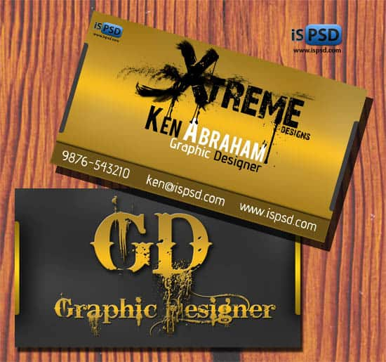 Golden Business Card PSD