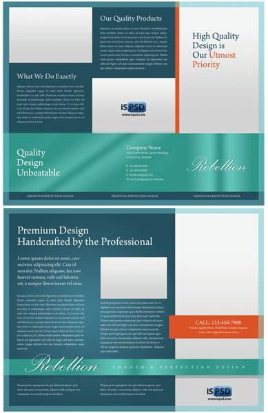 Rebellion Trifold Brochure  PSD