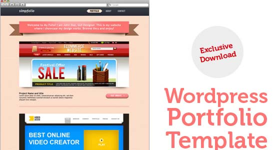 WordPress portfolio PSD template
