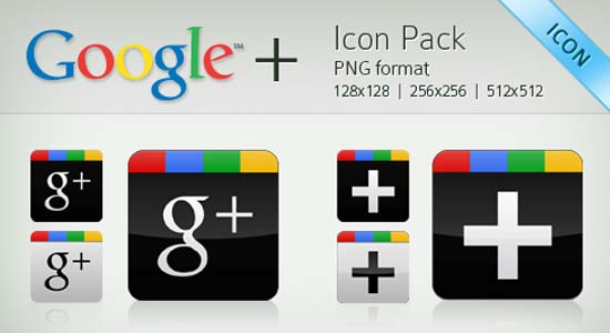 Google Plus Vector Icon Pack