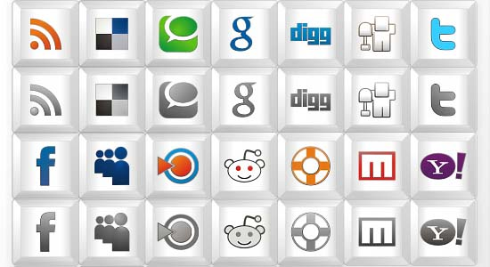 New free social icon set- Key icons