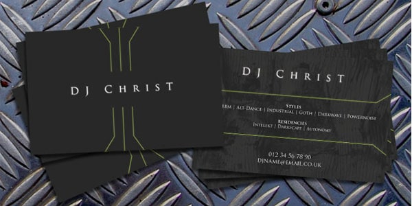 DJ ChrisT Contact Card