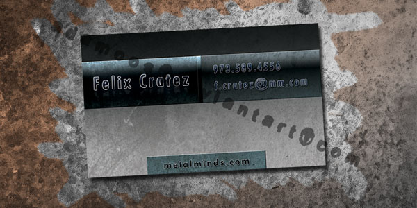 Metal Business Card by Adamoos