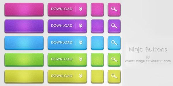 ninja download buttons