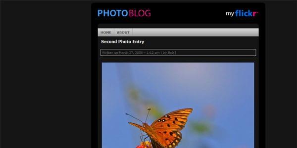 photoblog website template