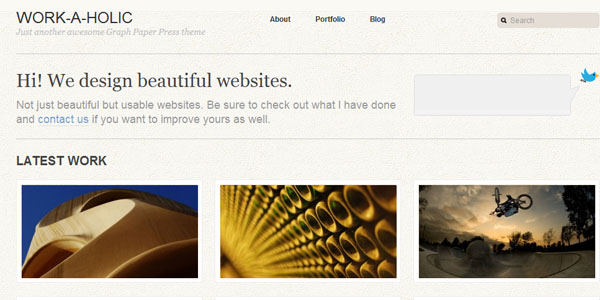 workaholic wordpress template