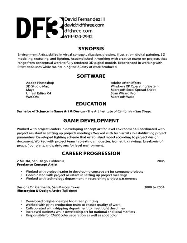 development writing a cover letter bonnie simpson games design