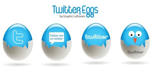 twitter egg icons