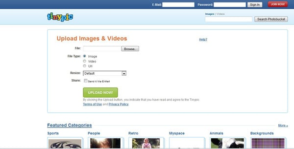 photo sharing websites