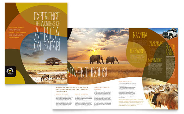 African Safari Brochure Template