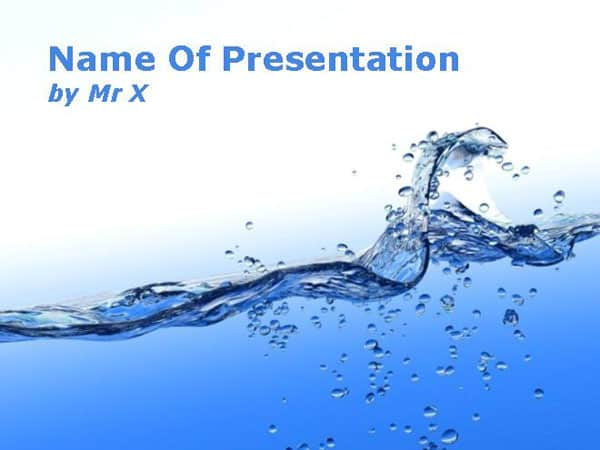 Blue Water Flow Powerpoint Template