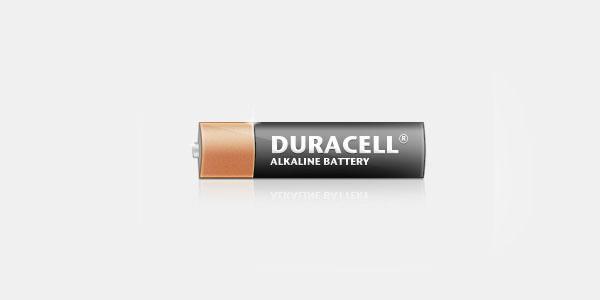 Duracell Battery PSD Template