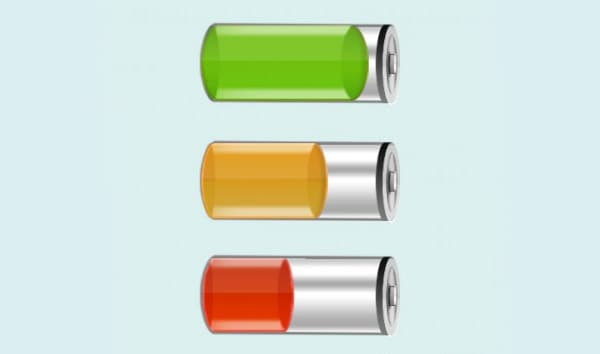 Exclusive Battery Icon PSD File