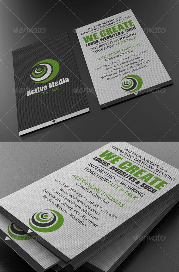 Green Designer Business Card