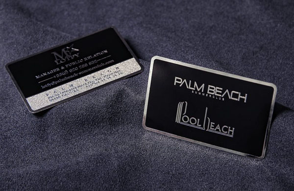 Metal Card Palm Beach