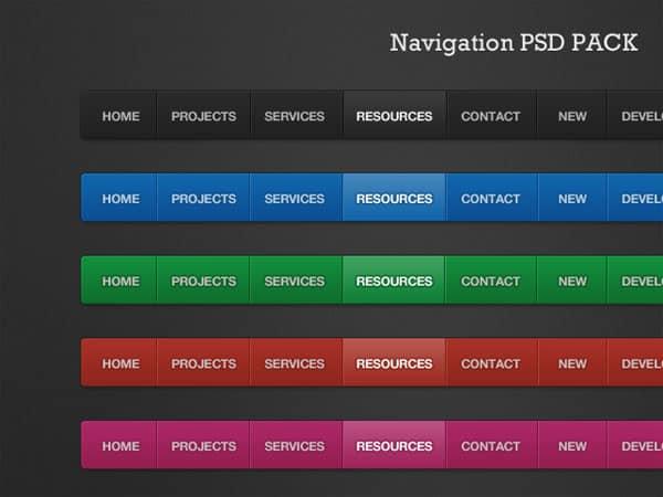 Navigation PSD Pack