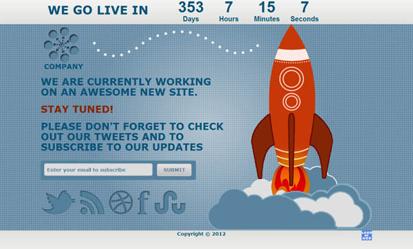 Rocket Coming Soon Page