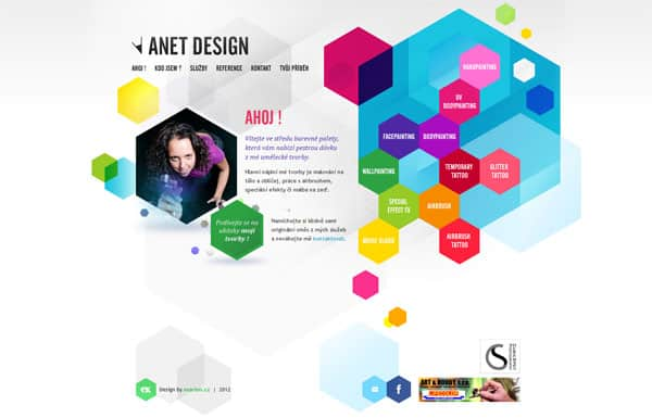 Anet design -- Bodypainting a facepainting