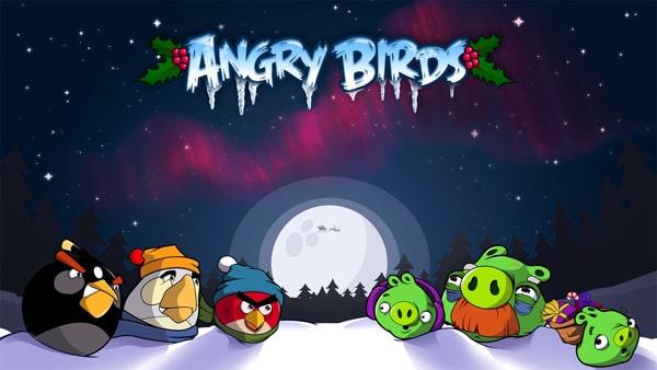 Angry Birds Winter wallpaper