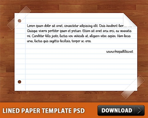 Lined-Paper-Templates