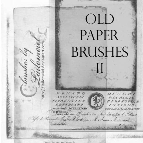 Old Paper Brushes 2