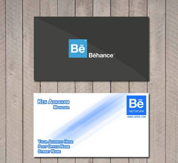 Behance Network business card
