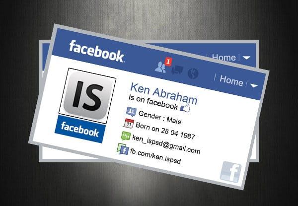 facebook business card