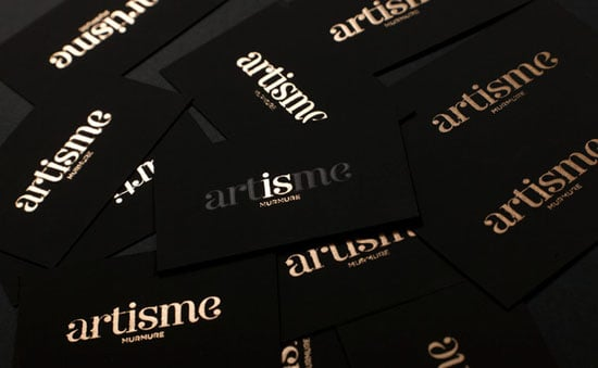 golden-black-business-card