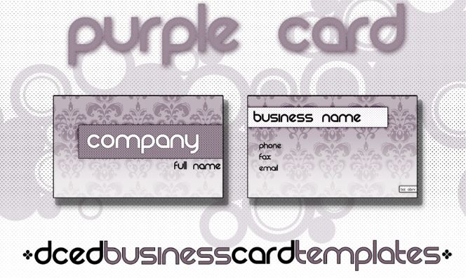 biz card template
