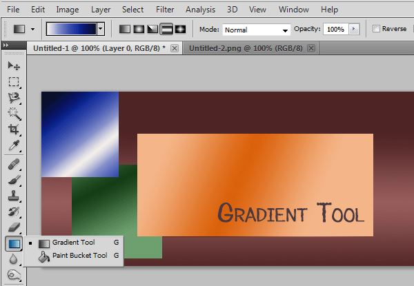 photoshop gradient tool