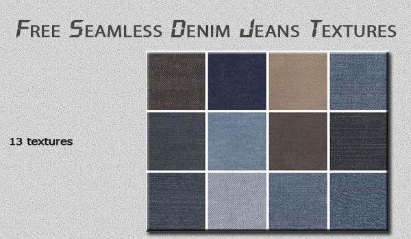 Seamless Denim Jeans Textures