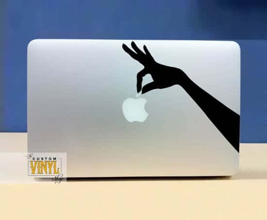 Hand-Holding-Apple-sticker