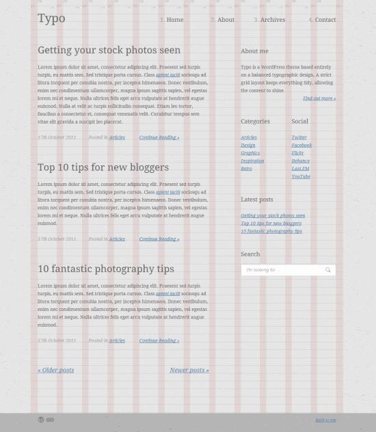 Blog Layout in HTML5 : Tutorials