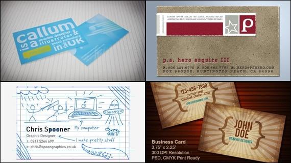 business card tutorials