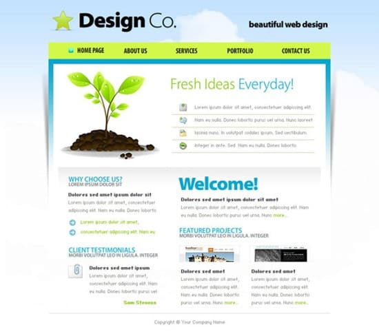 design company free flash template