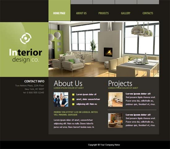 interior design co flash web template