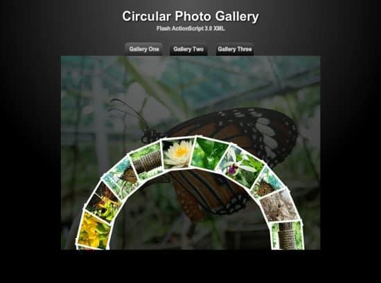 free flash photo gallery web template