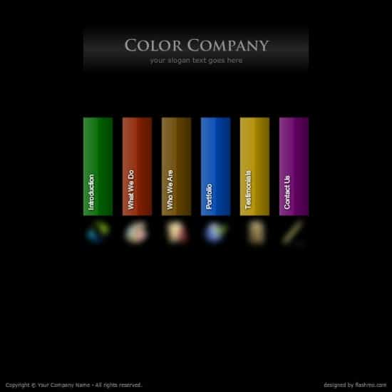 free flash color company web template