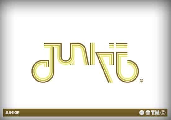 typography junkie logo design